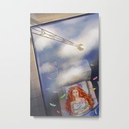 Greta Clouds Metal Print