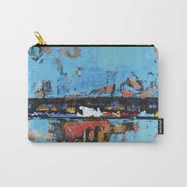 Stallion Blue Modern Painting Abstract Art Landscape Carry-All Pouch