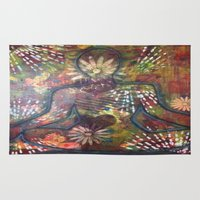 namaste Area & Throw Rugs featuring Namaste by Tiffany Alcide
