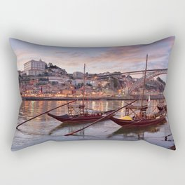 Oporto at dusk Rectangular Pillow