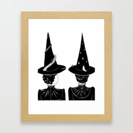 Two Witches Framed Art Print