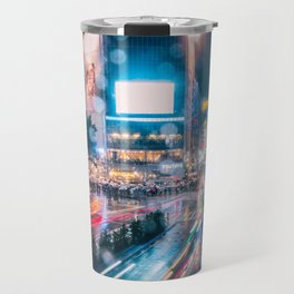 Rainy Night at Shibuyacrossing - throught the window Travel Mug
