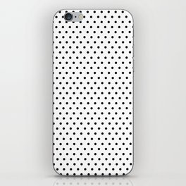 Polka dot white and black iPhone Skin