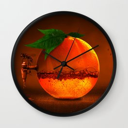 100 % natural juice Wall Clock