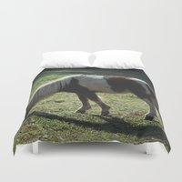 pony Duvet Covers featuring Miniature Pony by Sarah Shanely Photography