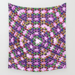 Kaleidoscope Finger Spinners Mandala Pattern Wall Tapestry