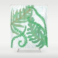 fern Shower Curtains featuring Fern by Allison Holdridge