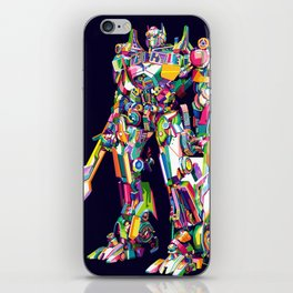 Transformer in pop art iPhone Skin