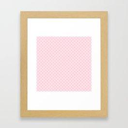 Large Soft Pastel Pink Spots Framed Art Print