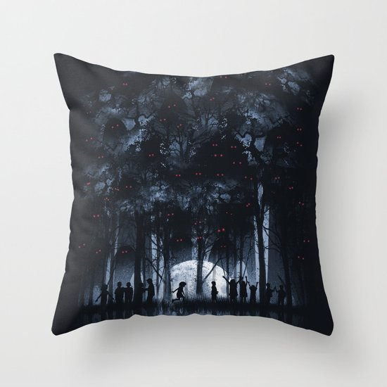 Creatures Rule the Night Throw Pillow