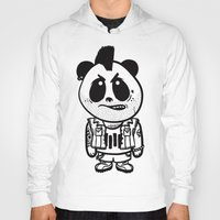 punk rock Hoodies featuring Punk Rock Panda  by Team Rapscallion