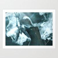 soul eater Art Prints featuring Aoelia the Soul Eater by Jiyu-Kaze™