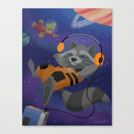 Guardians of the Walkman Canvas Print