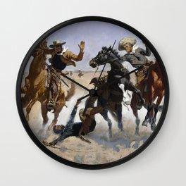 Frederic Remington / Aiding a Comrade Wall Clock
