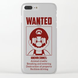 Mario Wanted Clear iPhone Case