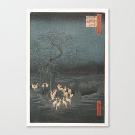 New Year's Eve Foxfires at the Changing Tree, Hiroshige Canvas Print