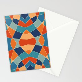 Retro Colored Abstract Butterfly Stationery Cards