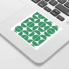 Mid Century Modern Geometric 04 Green Sticker