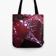 Diamonds on red velvet Tote Bag