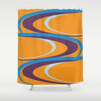 carnival Shower Curtains featuring Carnival by Ramon J Butler-Martinez