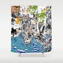 Oli Goldsmith Portrait of The Artist as His Art Shower Curtain
