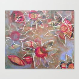 Floating Flowers Canvas Print