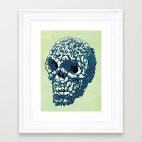 kozyndan Framed Art Prints featuring Bunny Skull Uprisings  Edition by kozyndan