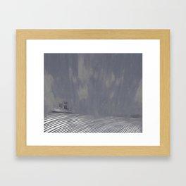 Mist rolls in Framed Art Print