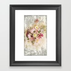 Sugar Sweet Shabby Chic Floral Framed Art Print