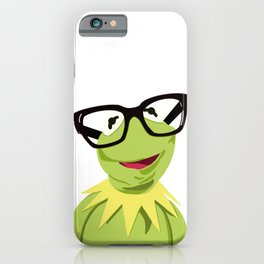 Hipster Kermit - the Optimistic Frog iPhone Case