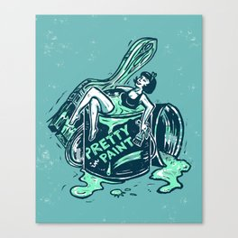 Pretty In Paint Canvas Print