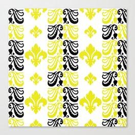 Fluer de Lis Custom Yellow Canvas Print