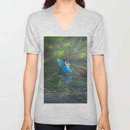 Playdate With An Octopus Or Two Unisex V-Neck