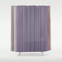 Purple Pantone Modern Stripes Shower Curtain
