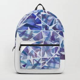 Blue Purple Round Gem Backpack