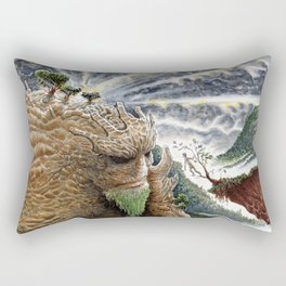 The Earth Golem Rectangular Pillow