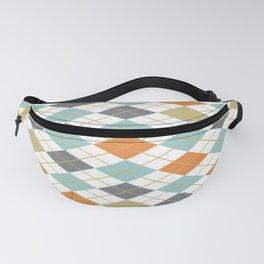 Retro 1980s Argyle and Stripes Geometric Fanny Pack