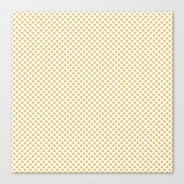 Sunset Gold Polka Dots Canvas Print