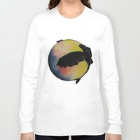 toothless Long Sleeve T-shirts featuring Toothless by Emilee's Fine Art