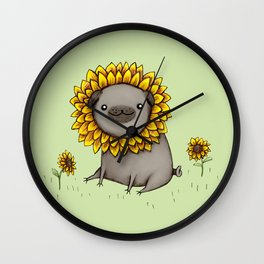 Pugflower Wall Clock