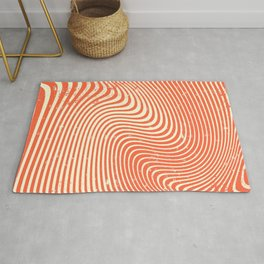 surreal swirl (red) Rug