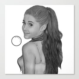 Graphite Ariana  Canvas Print
