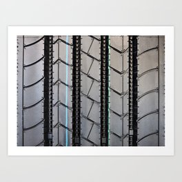 Tread pattern truck tire Art Print