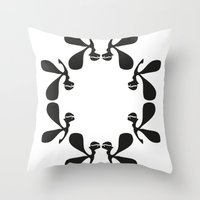 angels Throw Pillows featuring Angels by by Ingela