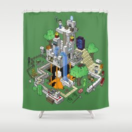Mine City Shower Curtain
