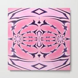 Neo Tribal Rose Pink Flourish Metal Print