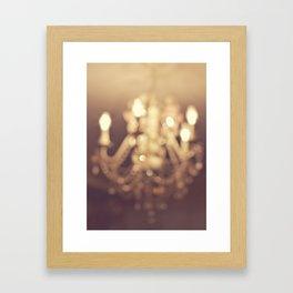 Dreamy Chandelier Framed Art Print