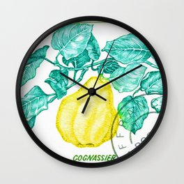 Branch of a Quince tree in Autumn Wall Clock