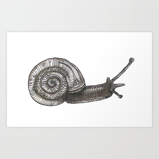 A snail named Benjamin Art Print