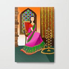 Indian Girl Metal Print